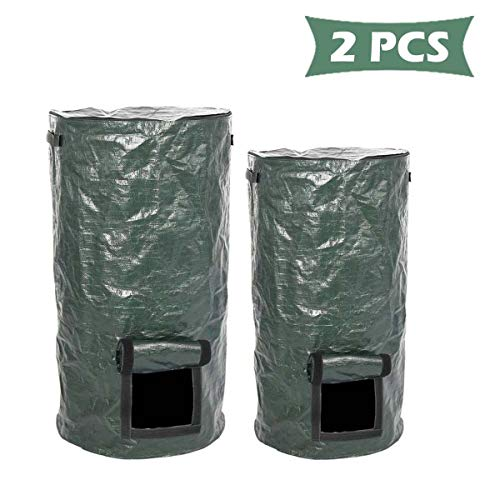 Great Price! KWNSHZ Compost Bag Yard Trash- Can Ferment Grow Large Capacity Home Foldable Probiotics...