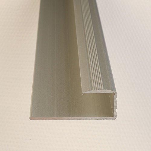 Einfassprofil Abschlussleiste für Böden Silber 1000 x 15 mm