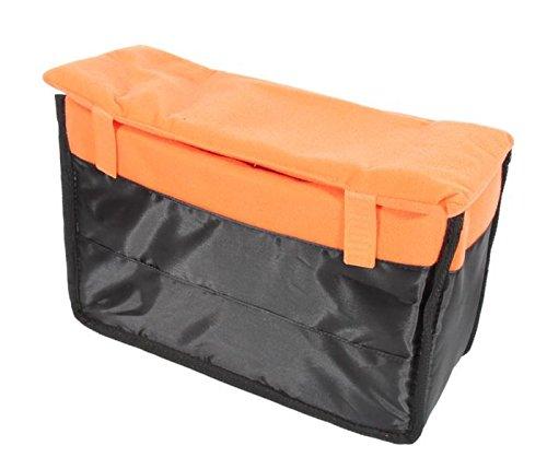 Taschen Inlay für Kamera und Zubehör, gepolsterter Universal-Einsatz für Kameratasche mit drei variablen Trennwänden 23 x 10,5 x 31cm