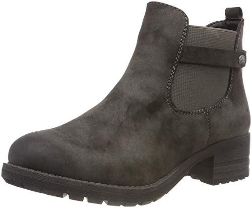 Rieker Damen 96864 Chelsea Boots, Grau (Anthrazit 45), 37 EU