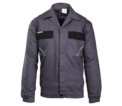 Brixton Natur Arbeitsjacke, Berufsjacke,KFZ, Montagejacke, Schutzjacke, Sicherheitsjacke Baumwolle (grau, 58)