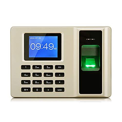 Feixunfan Zeiterfassung Smaschine SMART Fingerprint TIME ANWENDUNGSMASCHINE KOSTENLOSE Software OFFLINE TIME TIME ANWENDUNGSMASCHINE für Mitarbeiter Business (Farbe : Gold, Size : 17.9x3.3x12.7cm)