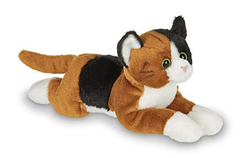 Bearington Lil' Callie Small Plush Stuffed Animal Calico Cat, Kitten 8 inches