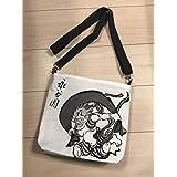 大相撲 照ノ富士関 反物使用 ファスナー付きショルダーバッグ 相撲 粗布