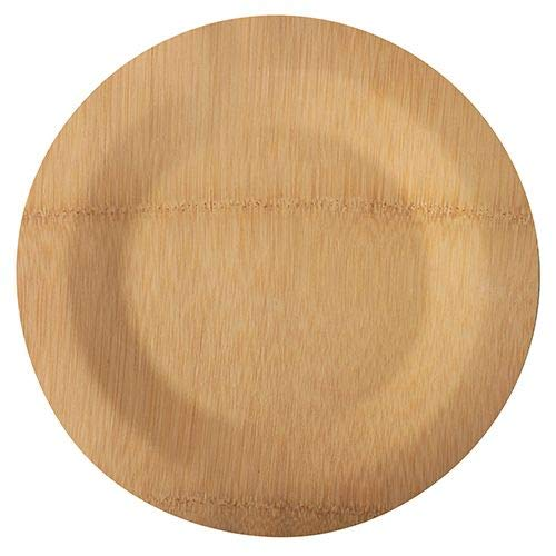 Papstar 88041 - Platos de bambú sin dividir (28 cm de diámetro, 1,5 cm de diámetro, 10 unidades)