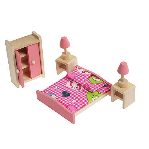 Muebles de la casa de muñecas Juguete de Madera 1:12 Scale Secuencia...