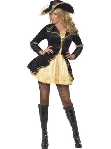 Smiffy's - Disfraz de Pirata Barroco para Mujer, Talla M (353895)