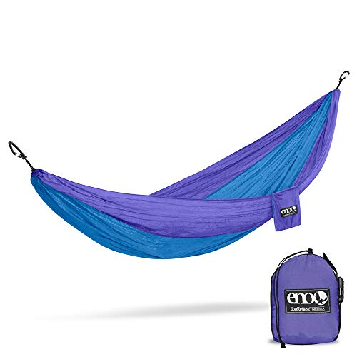 ENO - Eagles Nest Outfitters DoubleNest Lightweight Camping Hammock, 1 to 2 Person, Powder Blue/Royal