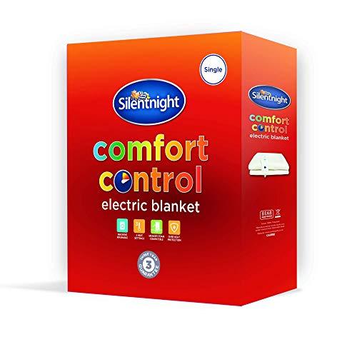 Silentnight Comfort Control Electric Blanket, White, King (Renewed)