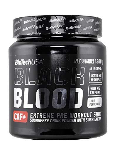 BioTech Black Blood CAF+, Bebida y Batidos Nutritivos, 300 gr