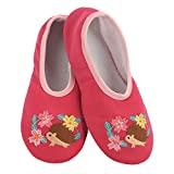 Snoozies Solefully Comfortable Slippers - Womens Slipper Socks with Hard Sole -Hedgehog - Medium