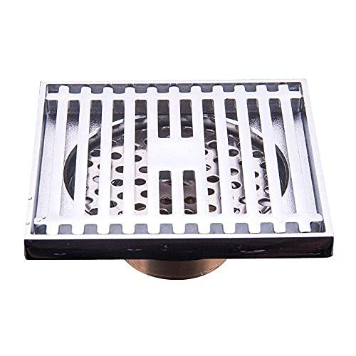 GPWDSN Desagüe de Piso de Desodorante de Desplazamiento Grande Cromado de Cobre, desagüe de Piso de Ducha de baño Anti-Bloqueo y a Prueba de Insectos