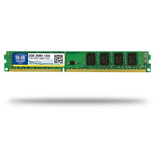 JohnJohnsen DDR3 1333 2G / 4G / 8G de Memoria de Escritorio PC Memoria Módulo PC3-10600 Compatible con procesador Intel y AMD (2G Verde)