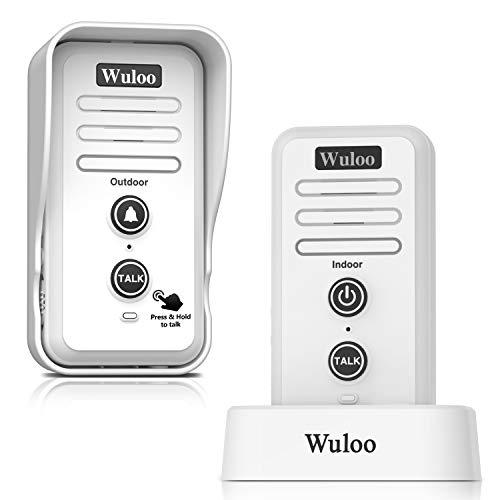 Wireless Intercom Doorbell Chime for Home Intercomunicador (1T1 White) ...
