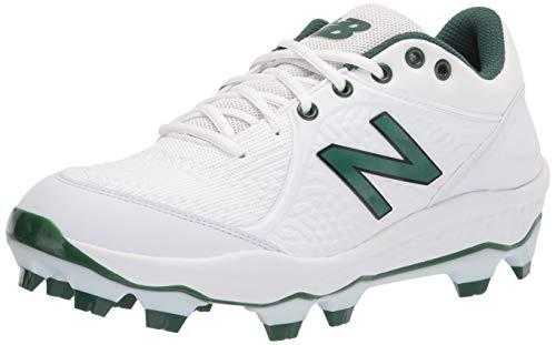 New Balance Men's Fresh Foam 3000 V5 Molded Baseball Shoe, White/Kelly Green, 12.5