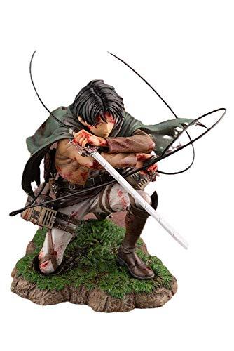 BGQ Shingeki No Kyojin Levi 1/7 Fortaleza Ver. Figura de Anime Attack To Titan Modelo periférico de animación Estatua de PVC 16CM Modelo de Anime decoración