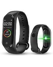 KLiHD Smart Band M4,Fitness Tracker,Contapassi/Fitness/contacalorie/Notifiche di Messaggi,Schermo a Colori HD Braccialetto Intelligente Cardiofrequenzimetro Activity Tracker Orologio Sportivo