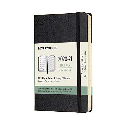 モレスキン 手帳 2020年7月始まり 18カ月 ウィークリーダイアリー ハードカバー ポケットサイズ ブラック DHB18WN2Y21