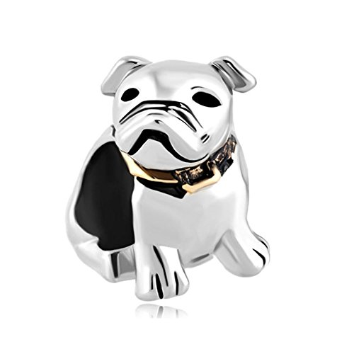 Charmed Craft French Bulldog Charms Animal Beads for Bracelets