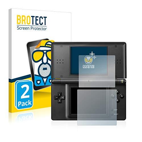 BROTECT Protector Pantalla Anti-Reflejos Compatible con Nintendo DS Lite (2 Unidades) Pelicula Mate Anti-Huellas