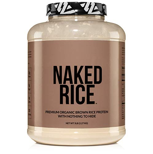 Naked Rice - Organic Brown Rice Protein Powder – Vegan Protein Powder - 5lb Bulk, GMO Free, Gluten Free & Soy Free. Plant-Based Protein, No Artificial Ingredients - 76 Servings…