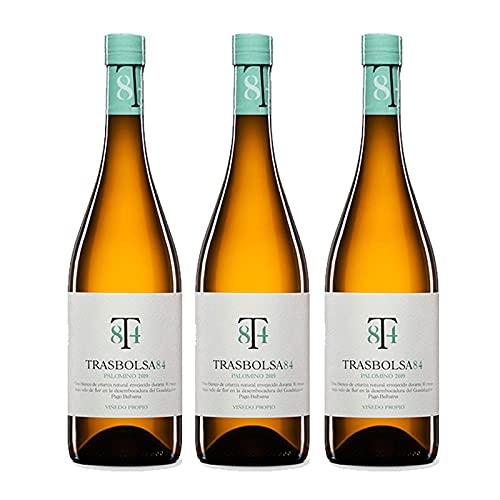 Vino Blanco Trasbolsa 84 de 75 cl - D.O. Tierra de Cadiz - Bodegas Barrero (Pack de 3 botellas)
