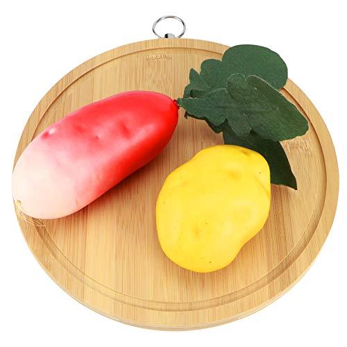 Tablas de cortar de barra, tabla de cortar tabla de cortar de bambú redonda tabla de cortar de verduras para masa para uso doméstico en la cocina del restaurante(3)