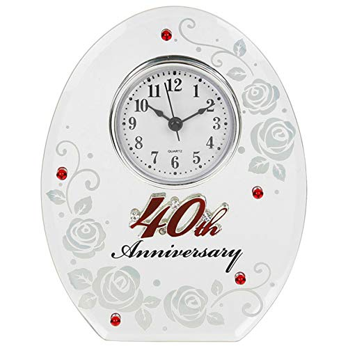 Shudehill Reloj Ovalado para cuadragésimo Aniversario de Boda de Color rubí