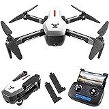 GZTYLQQ GPS RC Drone con cámara Frontal 4K HD y 720P con cámara hacia Abajo, 5G WiFi FPV Plegable sin escobillas, posicionamiento de Flujo óptico Altitude Hold RC Quadcopter con 2 baterías