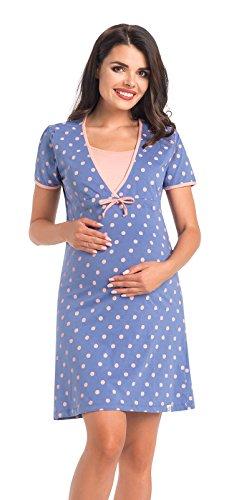 Di Vadini Koszula nocna / koszula nocna do karmienia Paola ze 100% bawełny / z krótkim rękawem