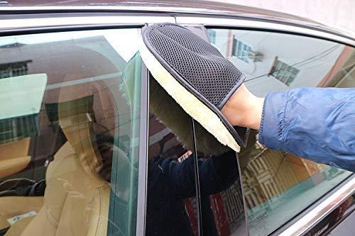 GROSSARTIG Auto Styling Wol Zachte Auto Washandschoenen Reinigen Penseel Motorfiets Washer Care 5 Paar Zachte Handschoenen