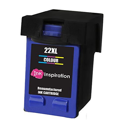 Tricolor INK INSPIRATION Cartucho de Tinta Remanufacturado para HP 22 22XL Deskjet F2120 F2180 F2280 F335 F375 F380 F390 F4180 F4190 3940 D1460 D2360 D2460 Officejet 4315 4355 PSC 1410 1415