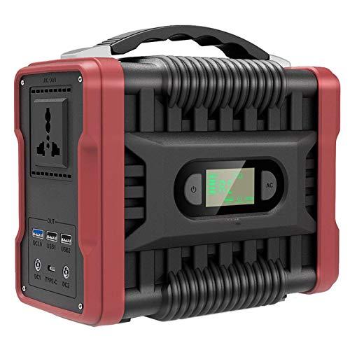 YBSY Centrale électrique Portable, générateur d'énergie Solaire 222Wh / 60000mAh, avec onduleur DC/AC et écran LCD pour Le Camping, la Sauvegarde, l'urgence CPAP