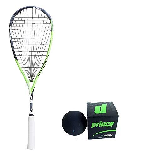 PRINCE Hyper Elite 500 Squash Racket 120 Grams with PRINCE Rebel Squash Ball