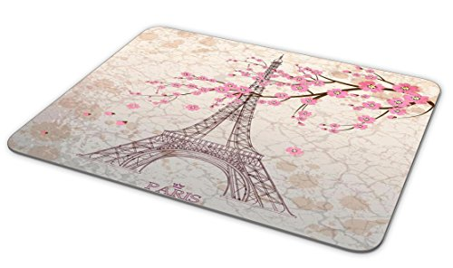 TuMeimei Non-Slip Rubber Mouse Pad, Beautiful Paris Tower and Cherry Blossoms Mouse pad (9.5 inch x 7.9 inch) Photo #2