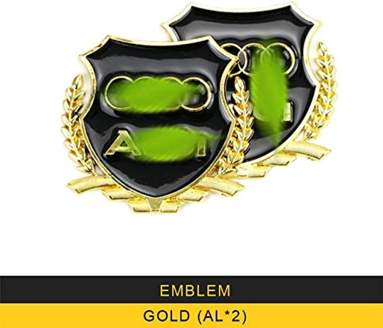 For Audi Q3 2016 2017 2018 Car Styling Decoration Emblem Cover Trim Frame Sticker Exterior Accessories  (color Name  goldX2)