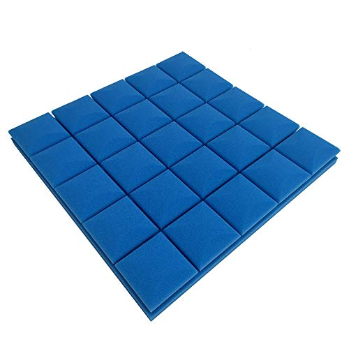 WEISHAN 1 UNID Estudio ACUSTICA APOUSTICA Foam APORTANTE 50X50X3CM Abrea de Prueba de Sonido Panel de Tratamiento de baldosas de cuña de cuña Esponja (Color : Blue)