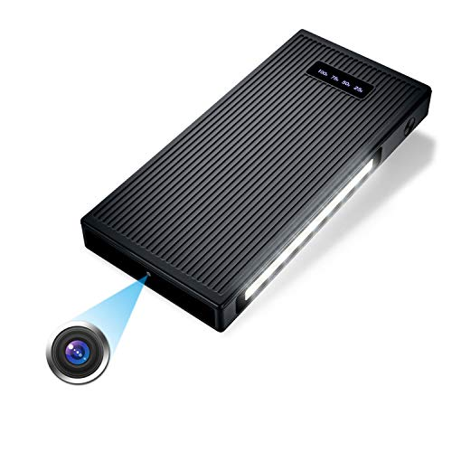 Mini Cámara, cámara de vigilancia de Seguridad para el hogar de 10000 mAh 1080P Full HD Night Vision, Detección de Movimiento para Interiores/Exteriores (Incluye Tarjeta SD de 32 GB)
