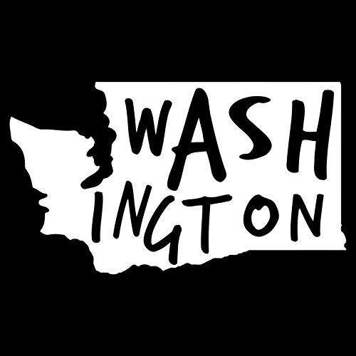 ANVPI Washington State Vinyl Sticker Auto's Vrachtwagens Muren Windows Laptops Bekers Wit 5.5 X 3.1in