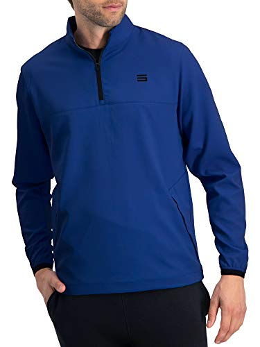 Herren Windbreaker Jacke, halber Reißverschluss, Golf Pullover, Windjacke, belüftet, Dry Fit, Herren, königsblau, XX-Large