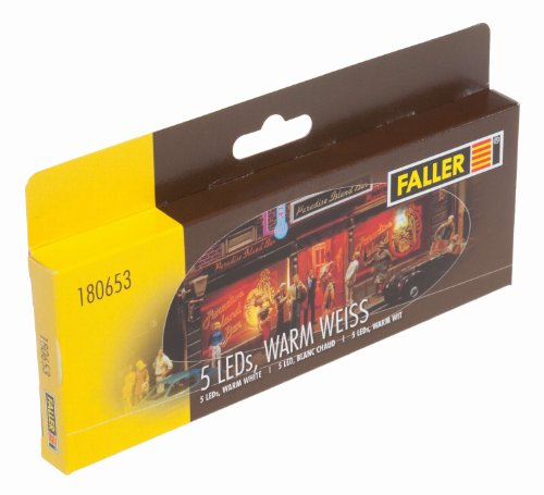 180653 - Faller - 5 LEDs, warm weiß