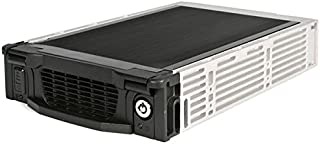 StarTech.com Aluminum 5.25-Inch Professional SATA Hard Drive Mobile Rack Drawer DRW115SATBK (Black)