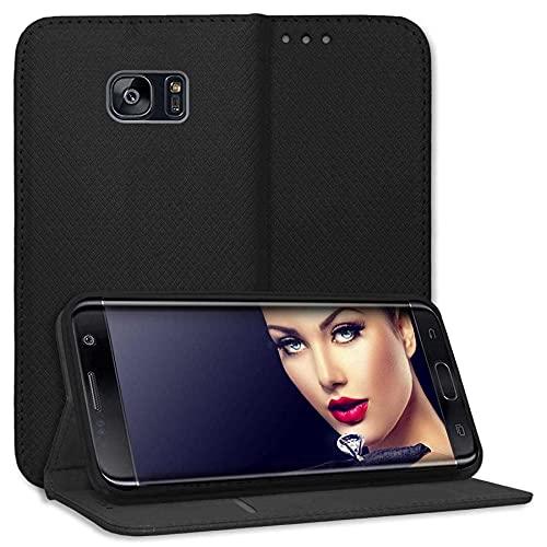 mtb more energy - Custodia a libro per Samsung Galaxy S7 Edge (SM-G935, 5,5'), in ecopelle, colore: Nero