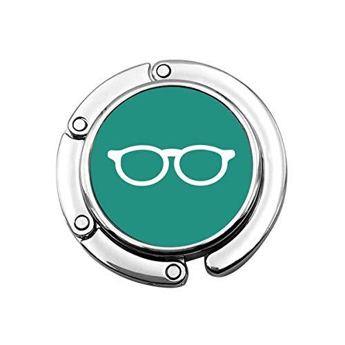 Geldbörse Kleiderbügel Geldbörse Haken Blau Zubehör Weiße Flache Brille Türkis Unisex Student Brillen Einfaches Bücherwurm Piktogramm