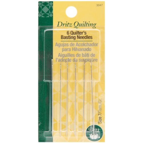 Dritz Quilter's Basting Hand Needles Size 7, 6 Count