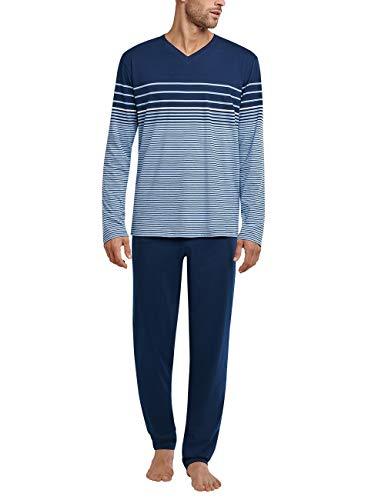 Schiesser Herren Schlafanzug lang Pyjamaset, hellblau, X-Large