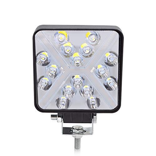 BeiLan Haz combinado Focos de Coche LED, 48W 12V/24V Faros Led Trabajo Proyectores Luz de carretera Luz de trabajo auxiliar para trabajo fuera de carretera Barra de luz LED para camión, tractor