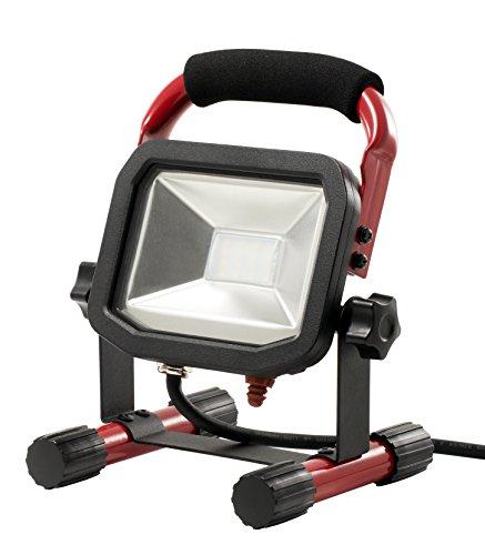 Luceco Slimline, tragbarer LED-Baustrahler, 22W, Schwarz und Rot