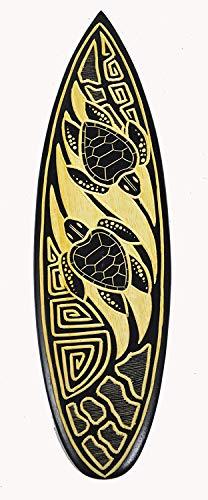 Stan256Nancy 20 tablas de surf Tiki Decoración Tiki Bar Tiki Estatua Tiki Máscara de pared Decoración de madera hecha a mano doble tortuga impreso letrero de madera para tabla de surf