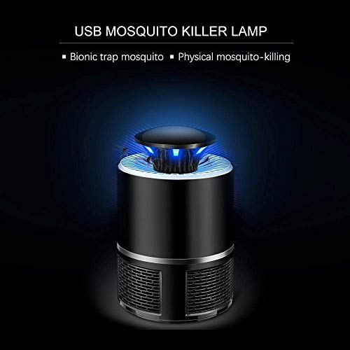COROID Eco Friendly Electronic LED Mosquito Killer Machine Trap Lamp, Mosquito Killer lamp for Home, USB Powered Electronic Fly Inhaler Mosquito Killer Lamp (Round_Black)